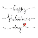 Happy Valentines Day. Greeting card with hand drawing lettering design. EPS10 vector illustration Stock Image
