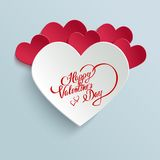 Happy Valentines Day Greeting Card royalty free illustration