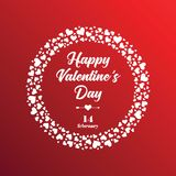 Happy Valentines day greeting card. Vector posterfor the Valentine`s day Stock Images
