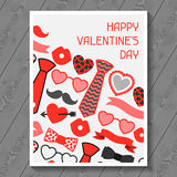 Happy valentines day greeting card. Hipster Stock Images