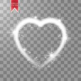 Happy Valentines Day greeting card. I Love You. 14 February. Holiday background with hearts with arrow, light, stars on Royalty Free Stock Photos