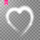Happy Valentines Day greeting card. I Love You. 14 February. Holiday background with hearts, light, stars on transparent Royalty Free Stock Images