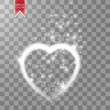 Happy Valentines Day greeting card. I Love You. 14 February. Holiday background with two hearts with arrow, light, stars Royalty Free Stock Image