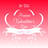Happy Valentines Day Greeting Card Illustration Stock Photo