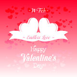 Happy Valentines Day Greeting Card Illustration. Happy Valentines Day Lettering Greeting Card Illustration Royalty Free Stock Photography