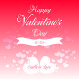 Happy Valentines Day Greeting Card Illustration. Happy Valentines Day Lettering Greeting Card Illustration Royalty Free Stock Photos