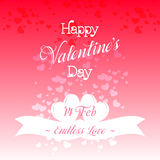 Happy Valentines Day Greeting Card Illustration. Happy Valentines Day Lettering Greeting Card Illustration Stock Image