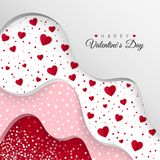 Happy Valentines Day greeting card. Layers with different Decorative Elements. Holiday Decoration Elements. Vector illustration.  stock illustration