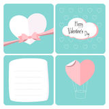 Happy valentines day. Greeting card letter. Design  with heart. Vector illustration Royalty Free Stock Image