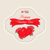 Happy Valentines Day Greeting Card. Happy Valentines Day Lettering Greeting Card Royalty Free Stock Image