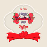 Happy Valentines Day Greeting Card. Happy Valentines Day Lettering Greeting Card Stock Images