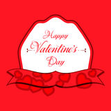 Happy Valentines Day Greeting Card. Happy Valentines Day Lettering Greeting Card Royalty Free Stock Images