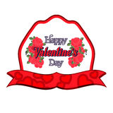 Happy Valentines Day Greeting Card. Happy Valentines Day Lettering Greeting Card Stock Photo