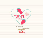Happy valentines day greeting card Stock Image