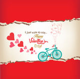 Happy valentines day greeting card Royalty Free Stock Photos