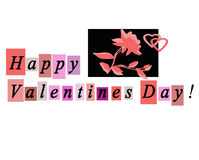 Happy Valentines Day Greeting Card Notecard Royalty Free Stock Photo