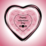 Happy Valentines Day Greeting Card on pink background, vector illustration Royalty Free Stock Image