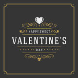 Happy Valentines Day greeting card or poster Stock Images