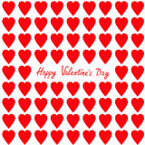 Happy Valentines day. Greeting card. Red heart set Seamless Pattern. Wrapping paper, textile template. Isolated. White background. Stock Image