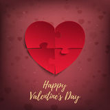 Happy Valentines Day, greeting card template. Royalty Free Stock Photography