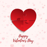 Happy Valentines Day, greeting card template. Stock Photography
