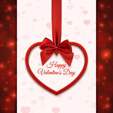 Happy Valentines day greeting card template. Royalty Free Stock Photo