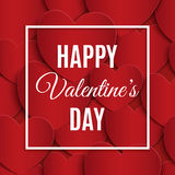 Happy Valentines Day greeting card template. Royalty Free Stock Images