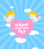 Happy Valentines day. Greeting card for Valentines day Stock Photography