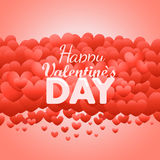 Happy valentines day greeting card. Valentines vector label with Stock Image