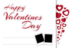 Happy valentines day greeting card in vector eps10 Royalty Free Stock Photos