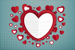 Happy Valentines Day greeting card (Vector eps10) Royalty Free Stock Photo
