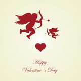 Happy Valentines day - greeting card Royalty Free Stock Photos