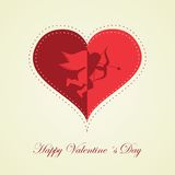 Happy Valentines day - greeting card Stock Images