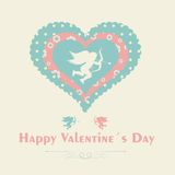 Happy Valentines day - greeting card Stock Photography