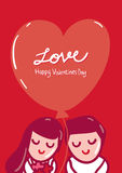 Happy Valentines Day greeting card Royalty Free Stock Photo