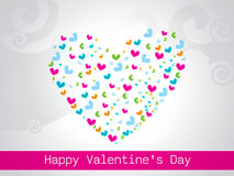 Happy Valentines Day Greeting Card, vector illustration Stock Photos
