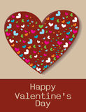 Happy Valentines Day Greeting Card, vector illustration Royalty Free Stock Photos