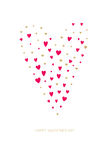 Happy Valentines Day Greeting Card. Vector illustration Royalty Free Stock Photo