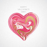 Happy Valentines Day Greeting Card. Vector illustration Stock Images