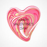 Happy Valentines Day Greeting Card. Vector illustration Stock Photography