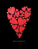 Happy Valentines Day Greeting Card. Vector illustration Royalty Free Stock Image