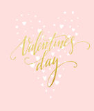 Happy Valentines Day Greeting Card. Vector illustration Stock Image
