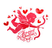 Happy Valentines day. greeting card. vector illustration Royalty Free Stock Photos