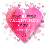 Happy Valentines Day greeting card. Vector illustration Royalty Free Stock Images