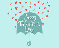 Happy valentines day greeting card vector illustration love romance abstract decorative banner. Royalty Free Stock Photo