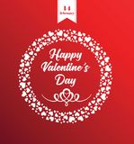 Happy Valentines day greeting card. Vector posterfor the Valentine`s day Stock Image