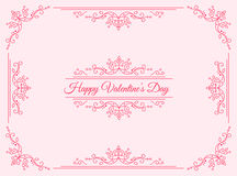 Happy Valentines Day Greeting Card vector illustration
