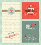 Happy Valentines day greeting cards Stock Image