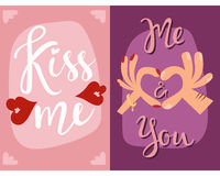 Happy valentines day greeting cards vector illustration abstract decorative banner. Happy valentines day greeting cards vector illustration love romance colors Stock Photos