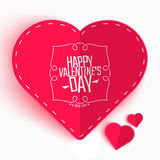 Happy Valentines day greeting or invitation card. With folded paper hearts. Vector illustration. Can be used for your poster, flyer and other design stock illustration